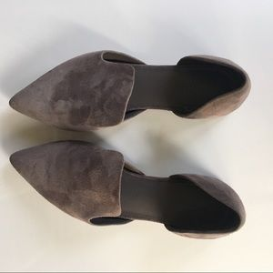 Vince Size 5.5 gray suede flats